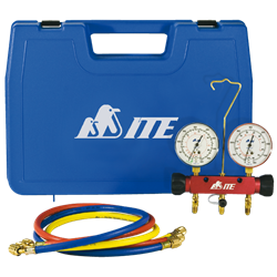 Ite complete service package for the refrigeration and air service manifolds gauges and charging hoses sciox Gallery
